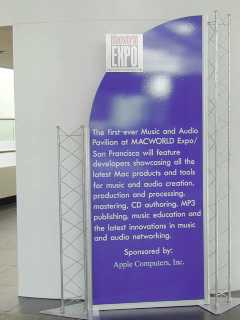 audio booth at MacWorld EXPO