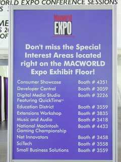 Special Interest Areas at MacWorld EXPO