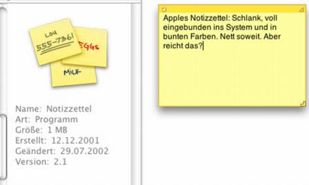 Apples Notizzettel